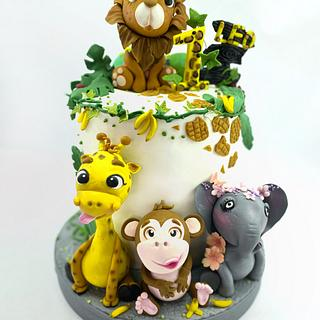 Jungle 🌿🐘🦁🙉🦒🌿 - Cake by My little cakes