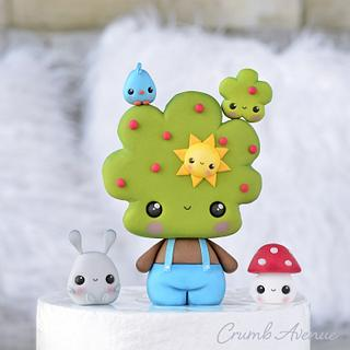 Cute Tree Cake Topper