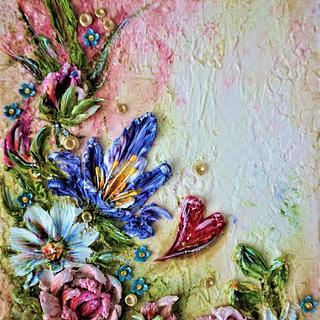 flowers ... palette-knife