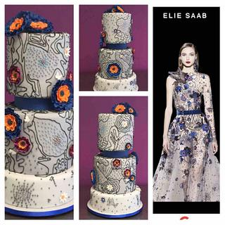 A beautiful dress turned into a cake.