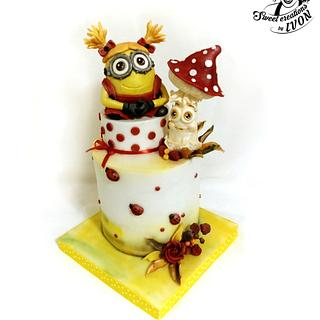 Minion Girl & Toadstool - Cake by Ivon
