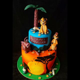 Lion king theme cake  - Cake by thefrostgoddess