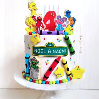Sesame Street Fun! - Cake by Lulu Goh