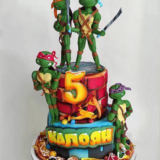Teenage Mutant Turtles Ninja - Cake by Tanya Shengarova