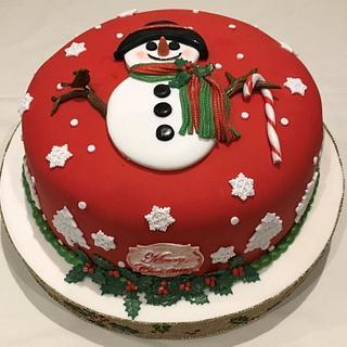 Snowman Cake - Cake by Margaret Lloyd