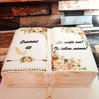"""Book"" cake"