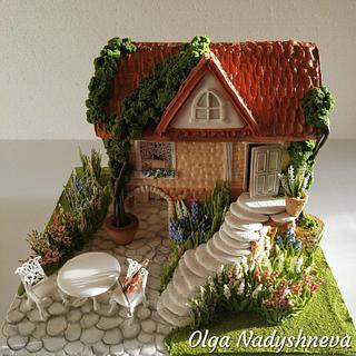 Summer Gingerbread house