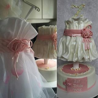 3D Dress Cake for Christening
