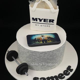 PUBG Binary Code Birthday Cake - Cake by Cakes by Vivienne