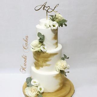 Wedding gold and flowers