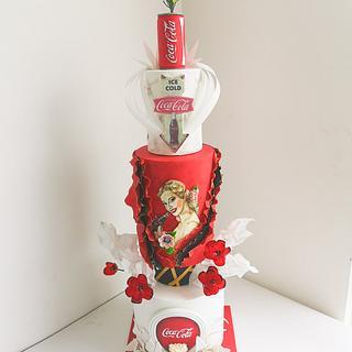 COCA-COLA VINTAGE  - Cake by Heidy Finol