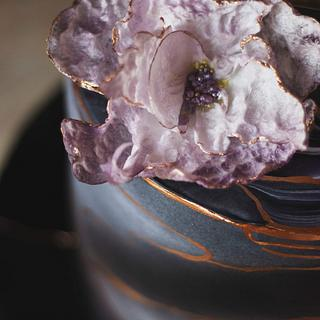 Marble birthday cake - Cake by Kremena Boteva