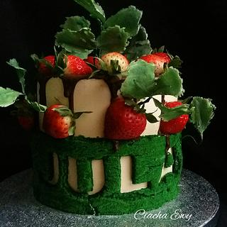 Cake strawberries