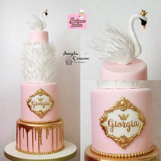 Swan cakes