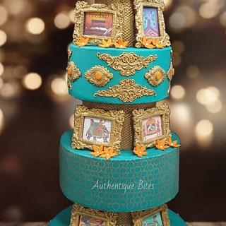 Grand Indian Wedding Cake - Cake by Authentique Bites by Ekta & Nekta