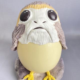 Porg White Chocolate Egg
