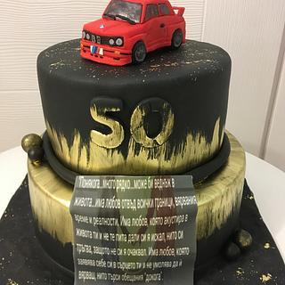 Men cake BMW E30 Mpower