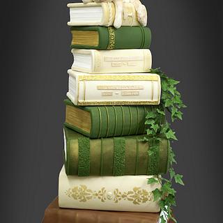 Book Stack wedding cake