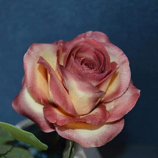 Rose from gum paste - Cake by StelaKoleva