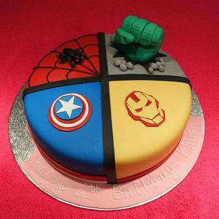 Avengers Theme Cake