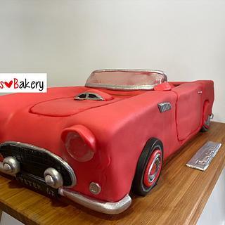 3D Ford Thunderbird 1957 cake - Cake by Bonnie's 🧡 Bakery