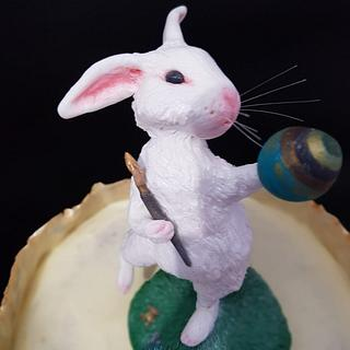 Painter Bunny - Cake by Torturicupasiune
