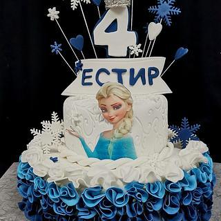 Elza frozen Cake
