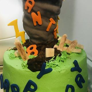 Tornado birthday cake - Cake by MerMade