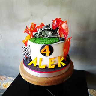 Motorbike cake - Cake by Tortalie