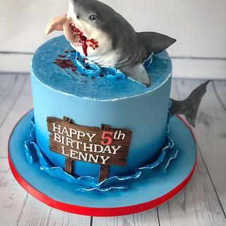 Shark cake  - Cake by Maria-Louise Cakes