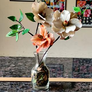 Magnolias Branches - Cake by Dr RB.Sudha