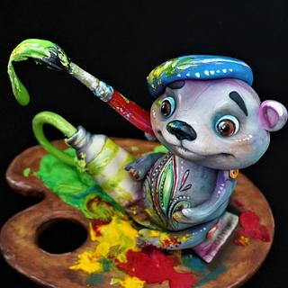 Artist Bear - Teddy Bear Challenge - Cake by Torty Zeiko