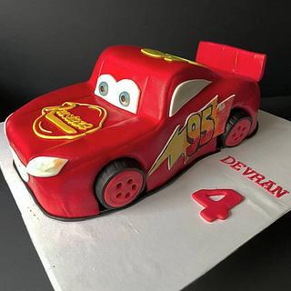 Lightning Mcqueen  - Cake by Bella's Cakes