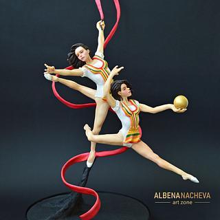 """The Golden Girls of Bulgaria"" in the rhythmic gymnastics - Cake by Albena Nacheva"