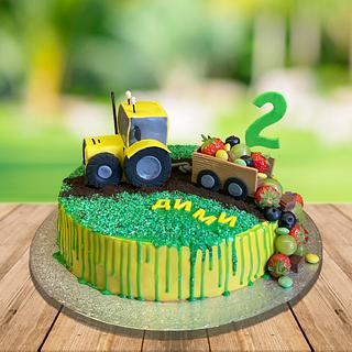 Tractor cake with fruits - Cake by NataliyaPetrova2vt8b4b9