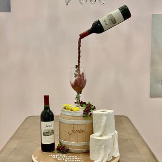 Quarantine Wine Barrel Cake