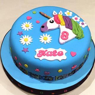 Kate's Unicorn Cake - Cake by Margaret Lloyd