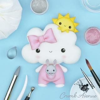 Cute Cloud Cake Topper