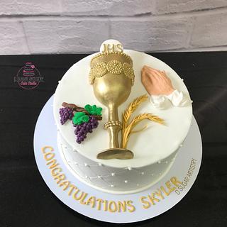 Communion cake  - Cake by D Sugar Artistry - cake art with Shabana