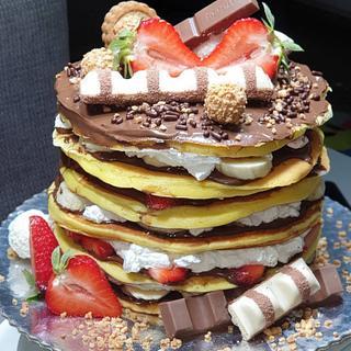 American pancake cake
