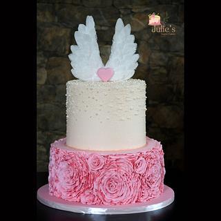 Angel wings cake <3  - Cake by Julie's Sweet Cakes