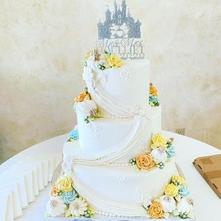 Enchanted Pumpkin Wedding Cake - Cake by Lucky Bear Cakes