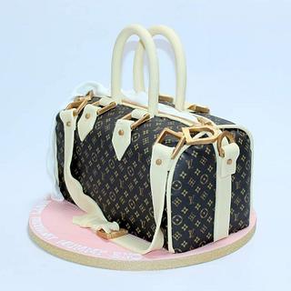 Louis Vuitton handbag cake - Cake by Celebration cakes