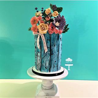 Weathered Wood Cake