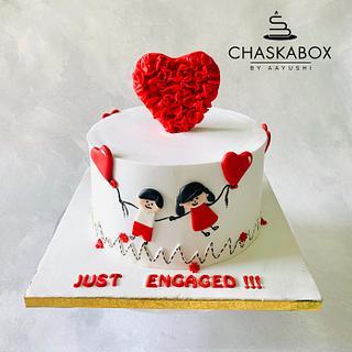 Engagement cake for a choreographer