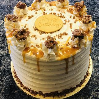 Butter pecan birthday cake - Cake by MerMade