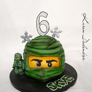 Ninjago green - Cake by Karen Dodenbier