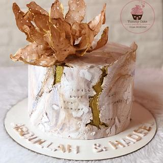 Stone texture cake