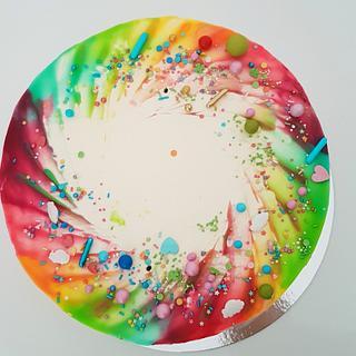 Rainbow drip