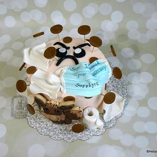 Sapphyre's corona virus birthday cake featuring Eevee